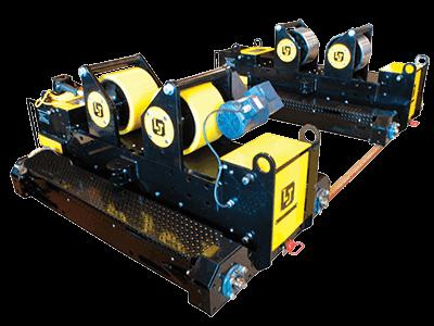 20-ton capacity pipe fit-up rotators