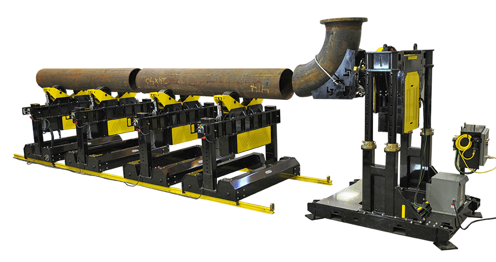 spooling system with weld positioner