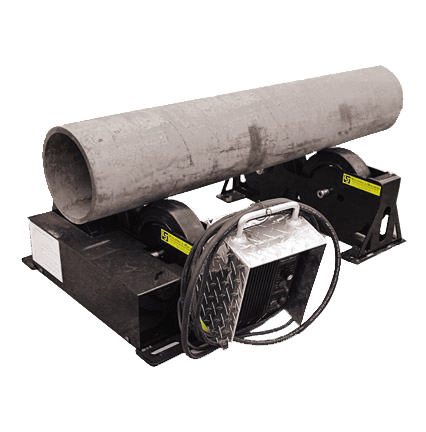 1.5 ton load capacity pipe rolls for welding
