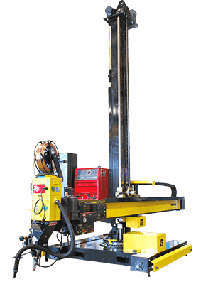 12′ X 12′ column and boom welding manipulator
