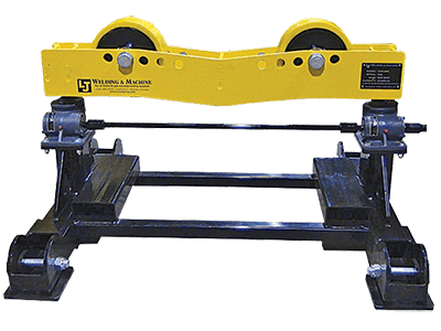 16000 lb capacity pipe roller support stand with geared height adjust