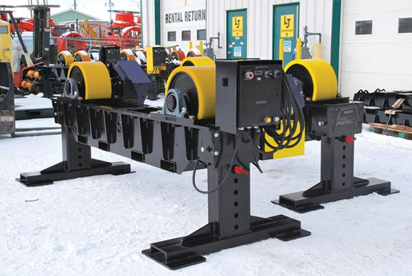 height adjustable pipe rotator tank turning rolls