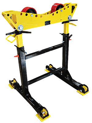 4000 lb Roller Pipe Roller Stands for sale