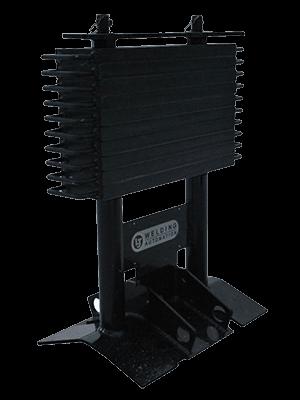 adjustable welding positioner counter weights for off-set loads.