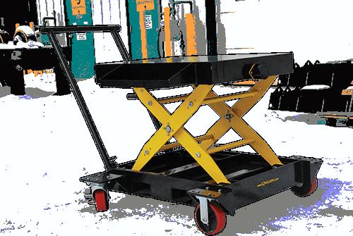 portable scissor lift cart for welding positioner use
