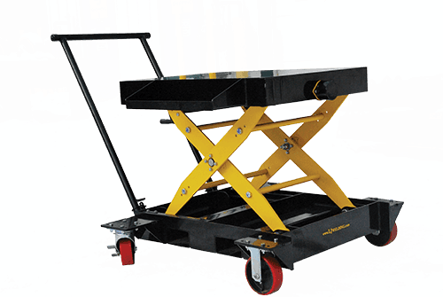 portable scissor lift cart for welding positioner use
