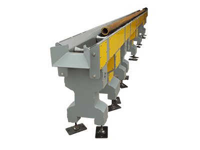 pipe conveyor system for light duty applications