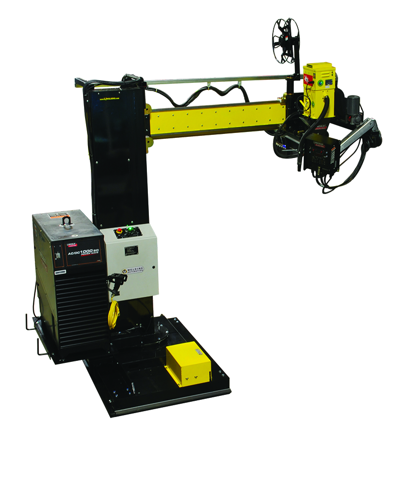 portable column and boom welding manipulator