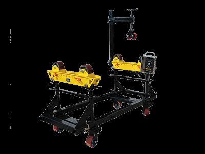 pipe rotators and cart