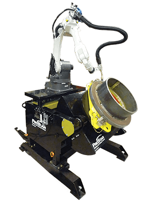 robotic welding gear tilt positioner system
