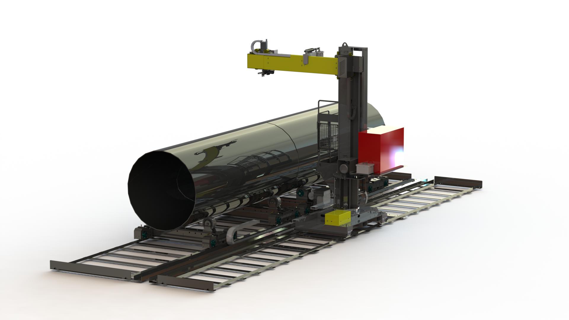 column boom manipulator welding cell (with turning rolls)