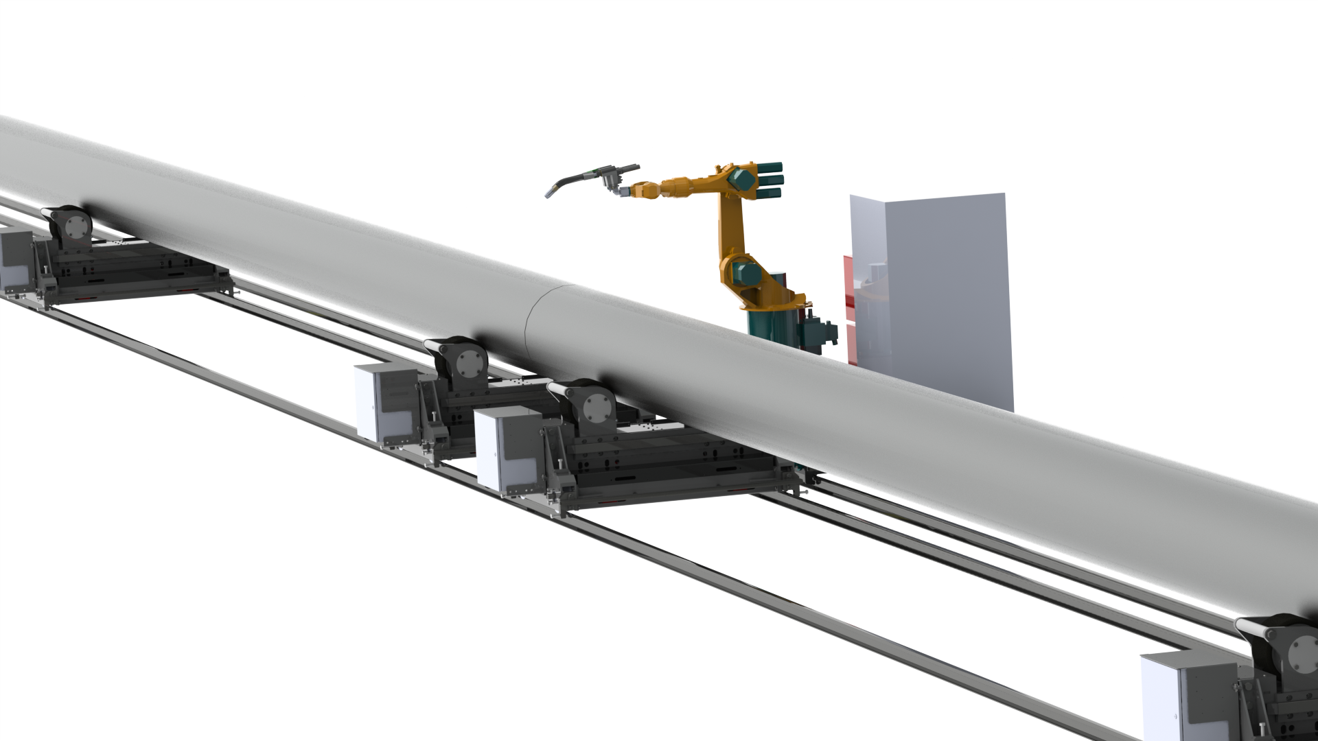robotic pipe welding cell