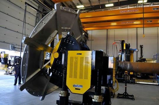 gear tilt welding positioner