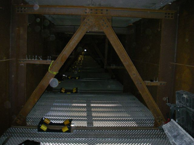 bridge beam rigging rollers installation