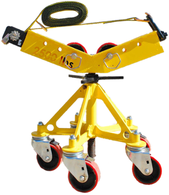 2500 load capacity height adjustable, roller base pipe welding stand