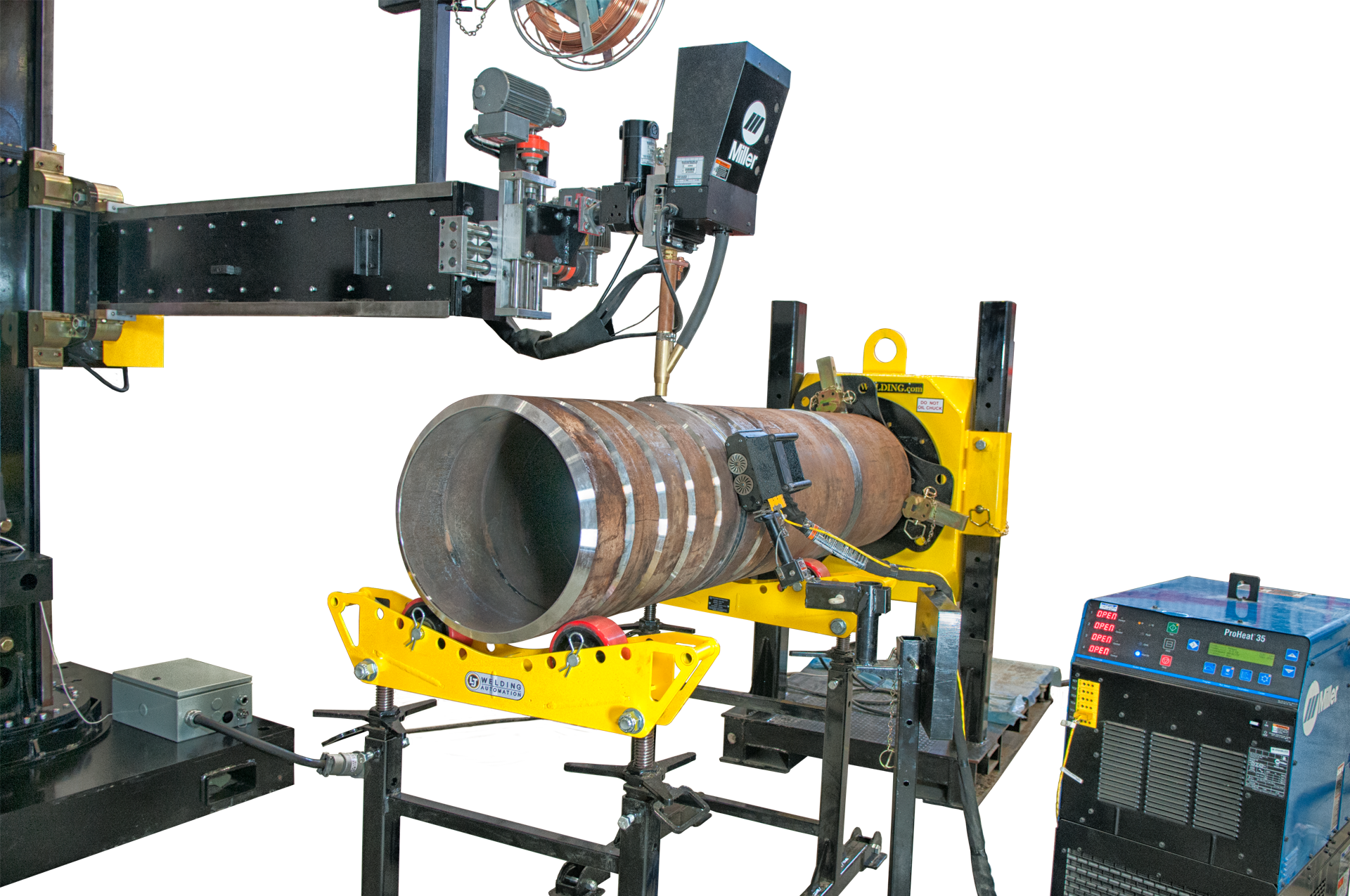 miller induction heating welding manipulator sale
