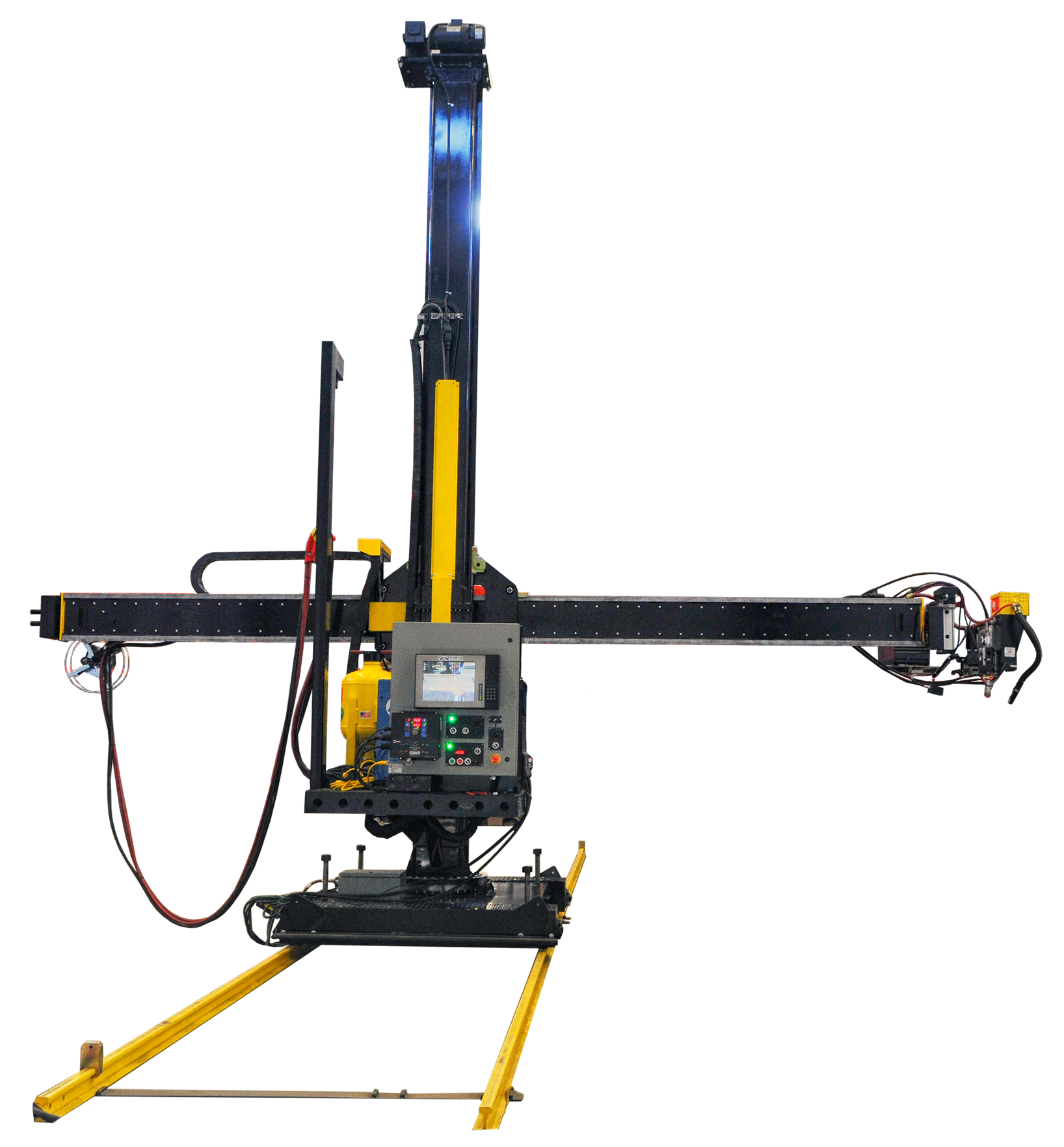 16 foot by 16 foot column and boom welding manipulator