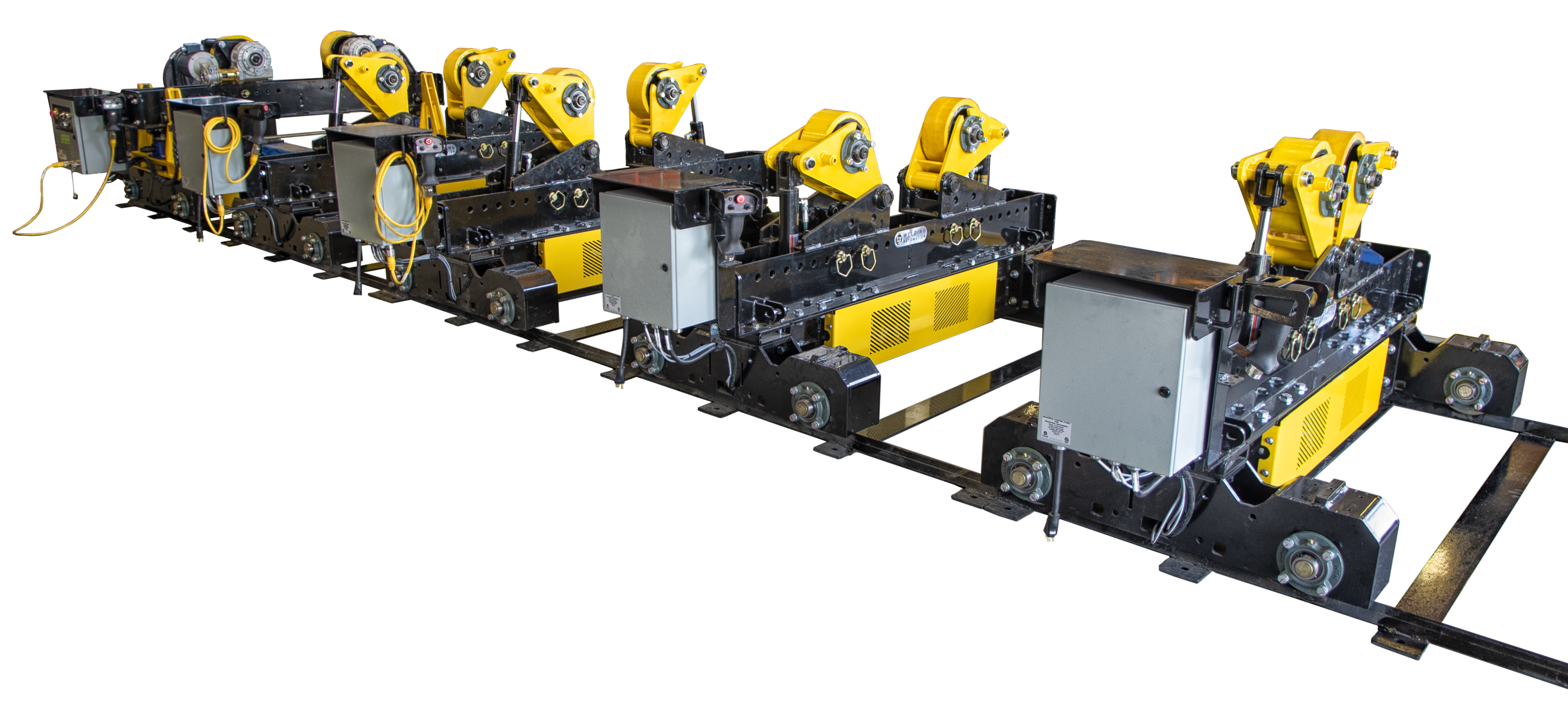 modular alignment fit-up rolls for material handling automation