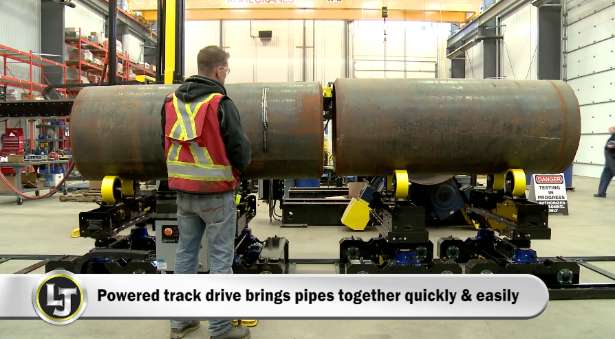 pipe double-jointing system for pipe fit-up process