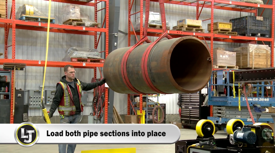 pipe double-jointing system with pipe rollers