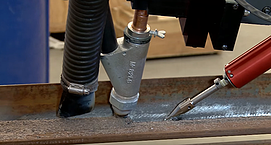 column and boom manipulator using tactile seam tracking probe