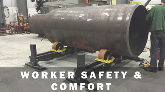 tank turning rolls used for worker safety and comfort