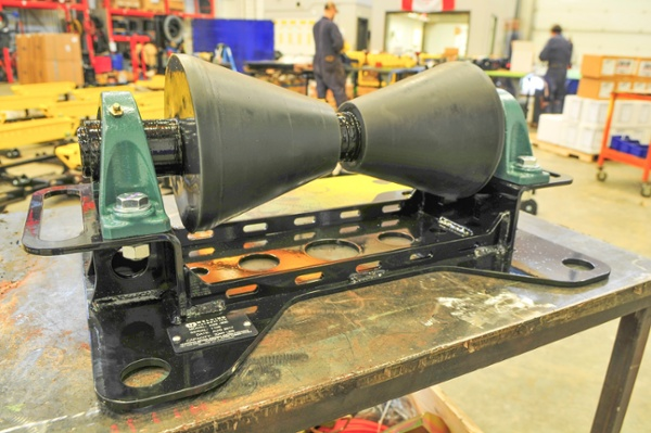 1-ton pipeline rollers during manufacture