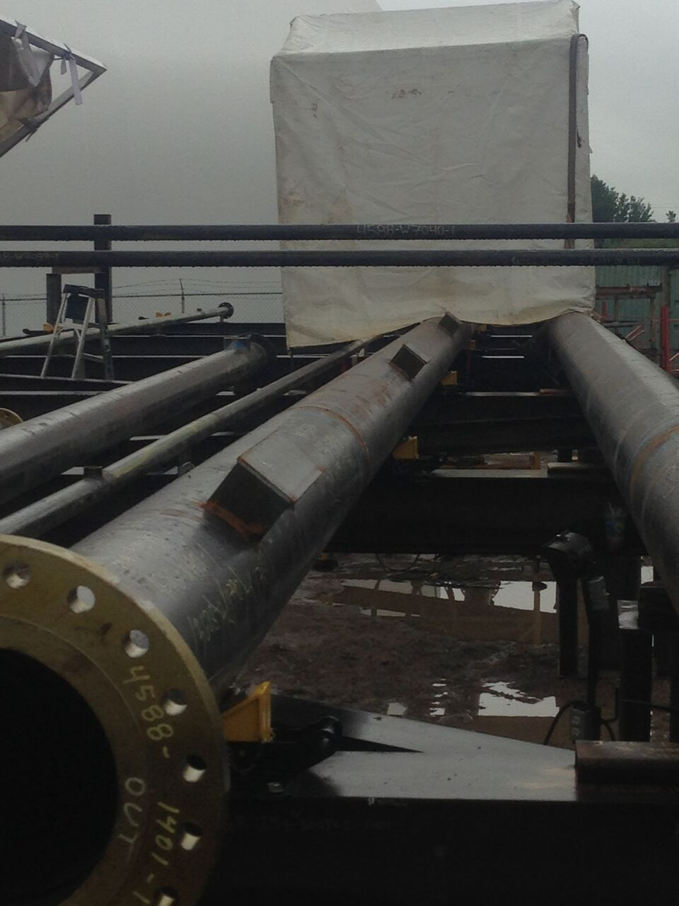 1-ton pipe rigging rollers
