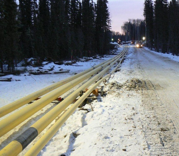 1-ton pipeline rollers deployment
