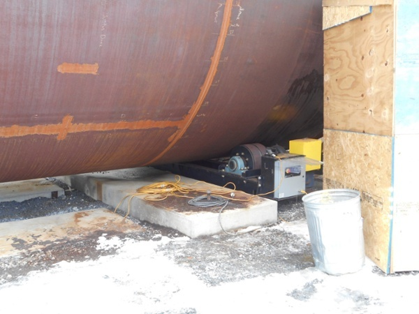 tank turning rolls 120 tons