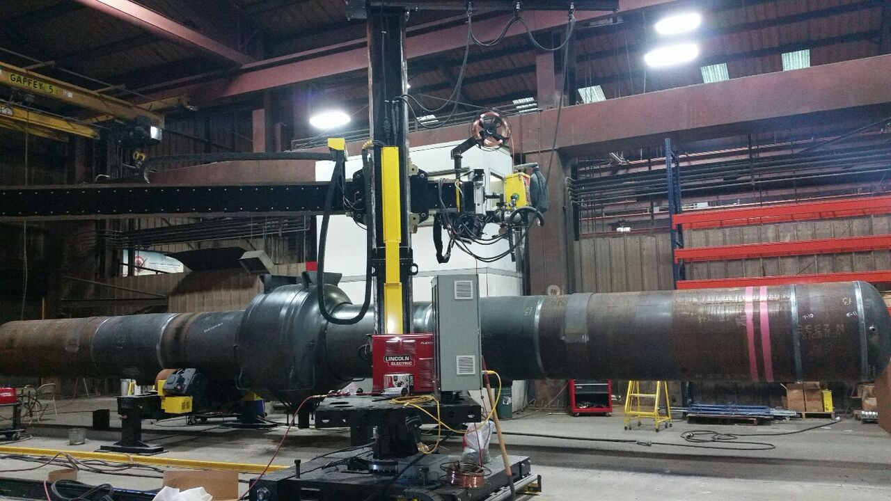 lincoln electric column a d boom welding manipulator sale