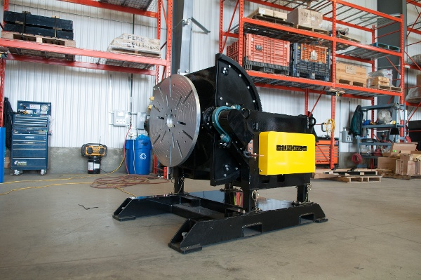 welding positioner with gear tilt function