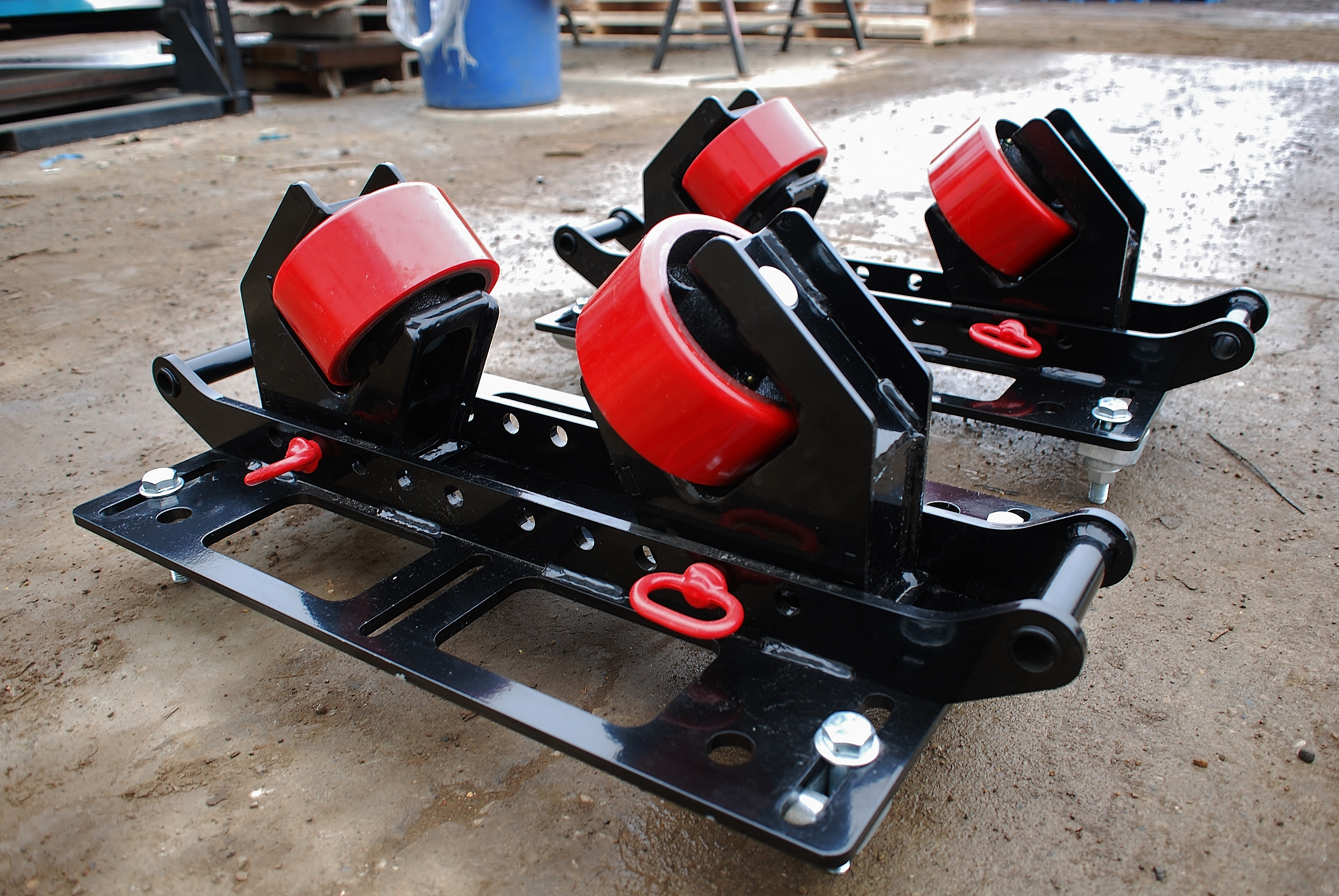 2-ton beam clamp rigging rollers for pipe rack installations