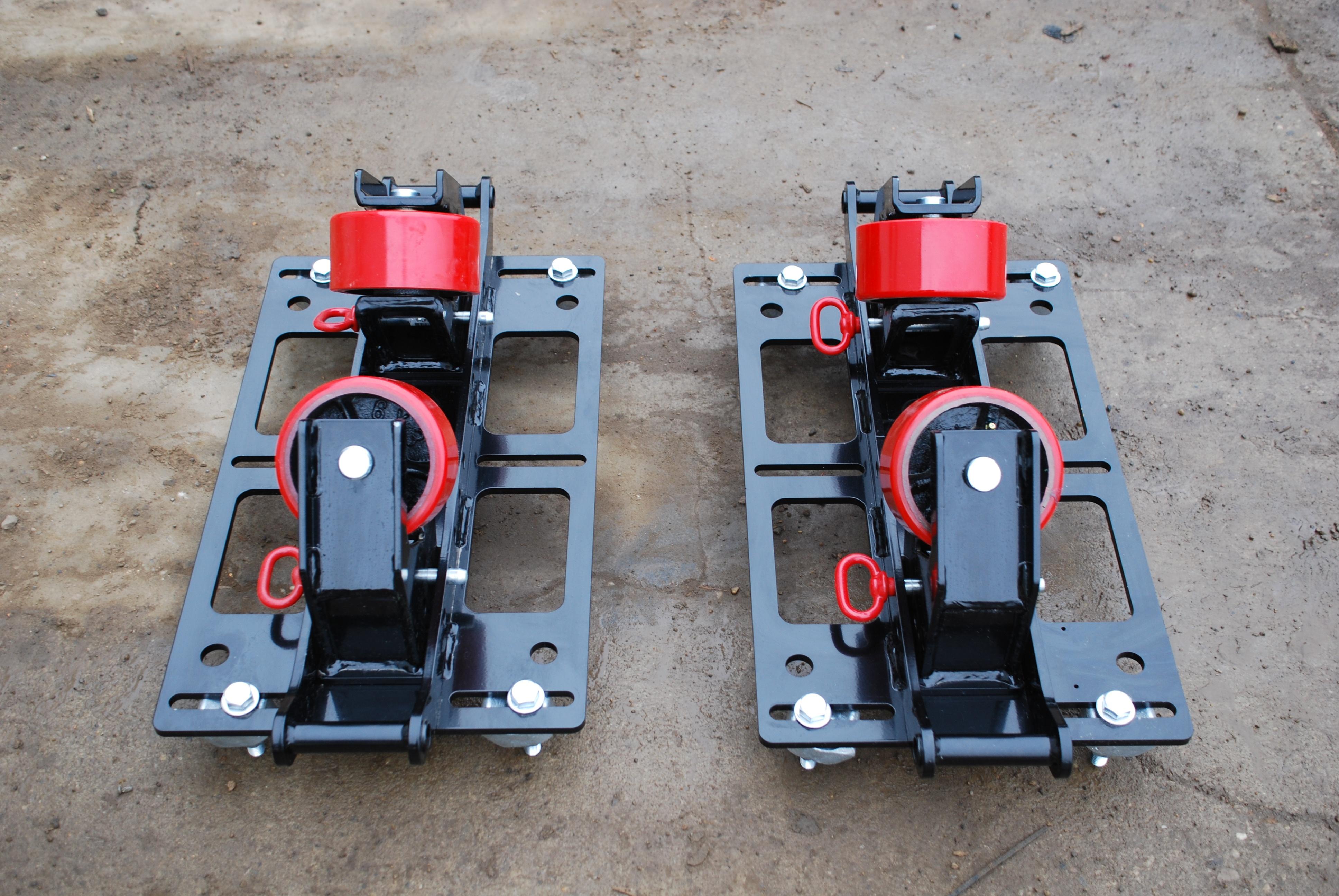 LJ welding 2-ton pipe rack beam clamp pipe rigging rollers rentals