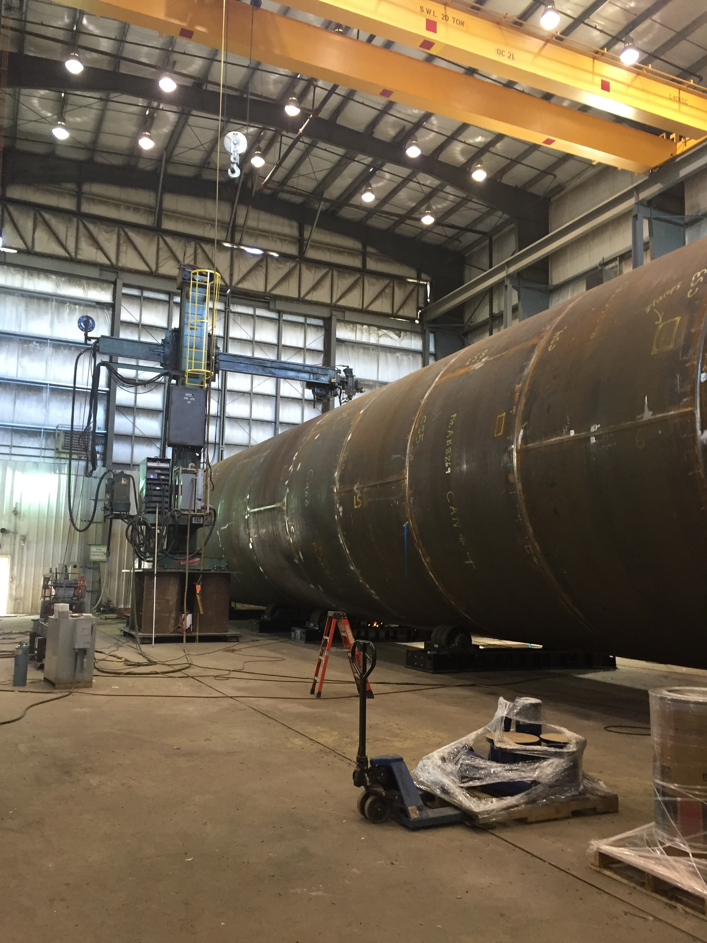 200 ton tank turning rollers