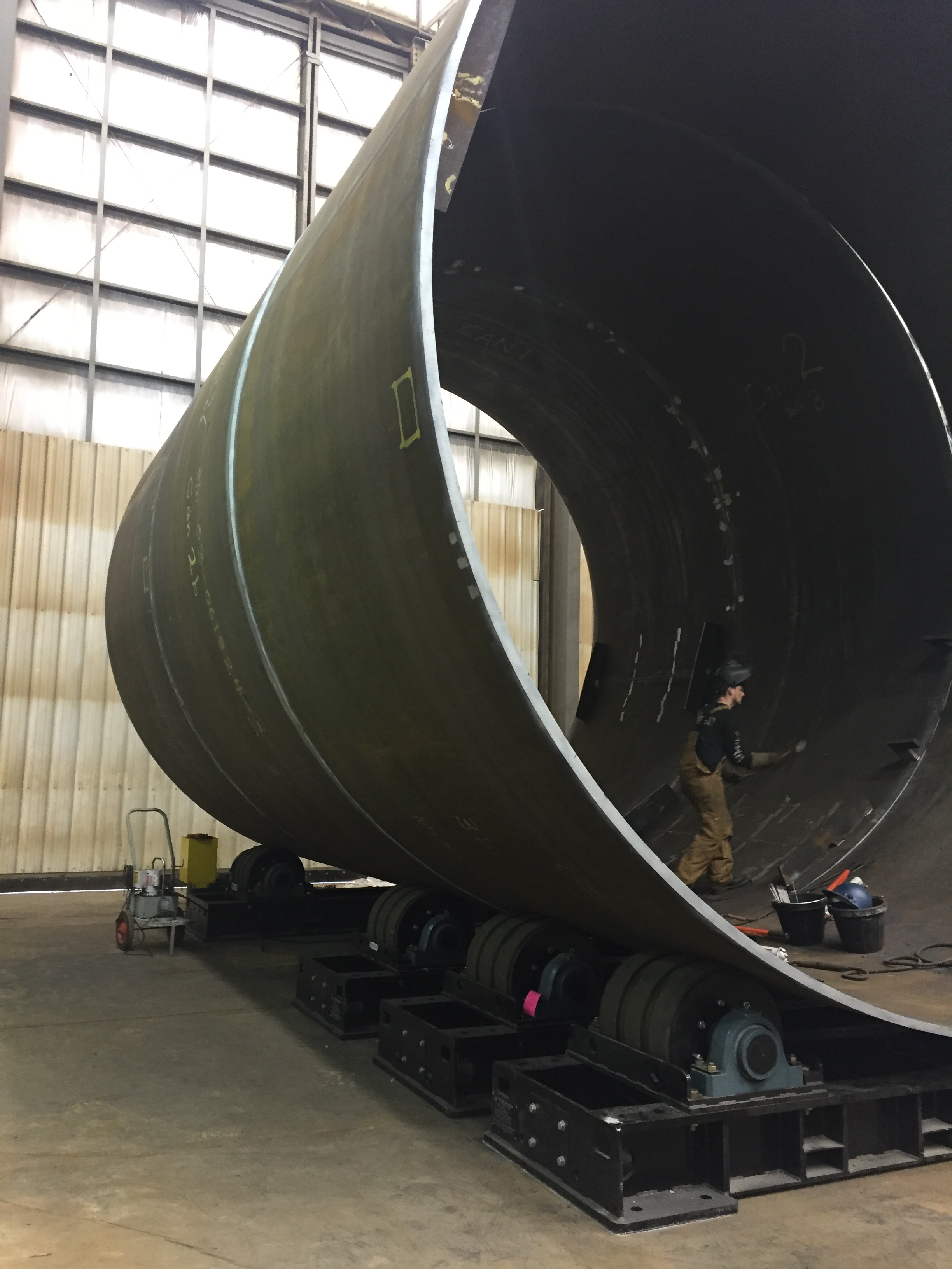 200 ton tank turning rolls