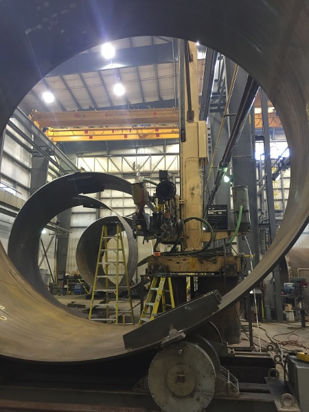 200 tonne tank turning rolls