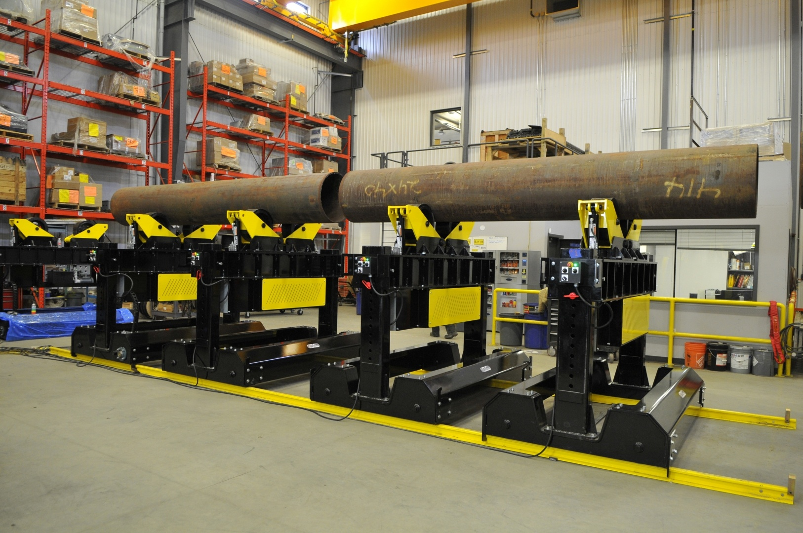 pipe fit up roller bed system for sale