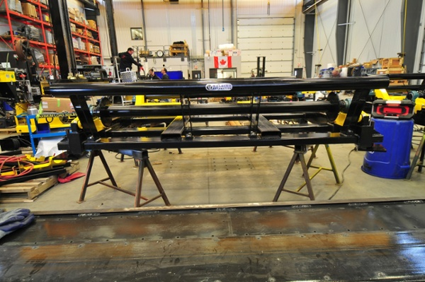 cable reel rollers being manufactured