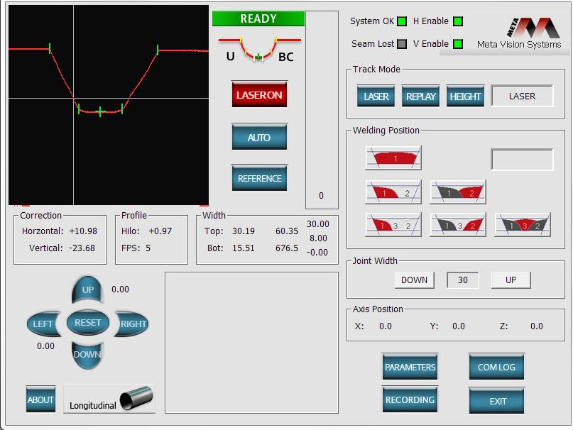 LJ welding manipulator seam tracking options