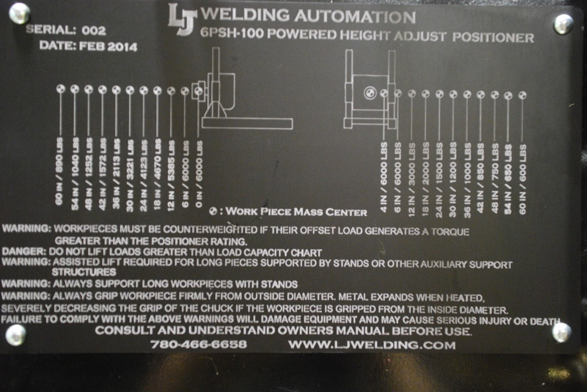 Powered Elevation Headstock Welding Positioner