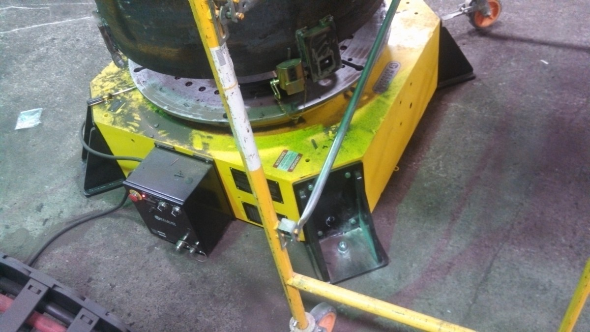 used 10-Ton Low Profile Welding Turntable (Floor Turntable) for sale