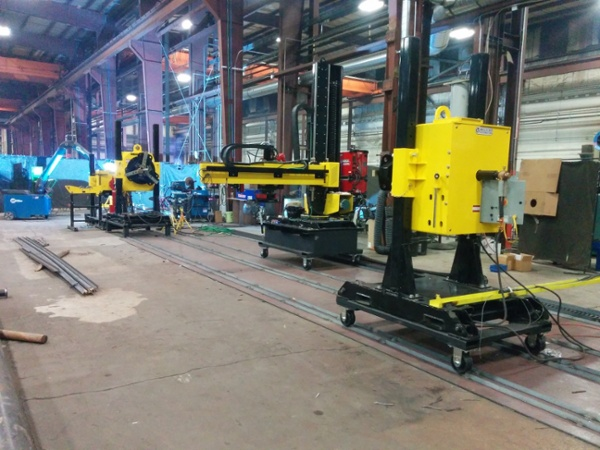 used welding positioners and column & boom welding manipulator for sale