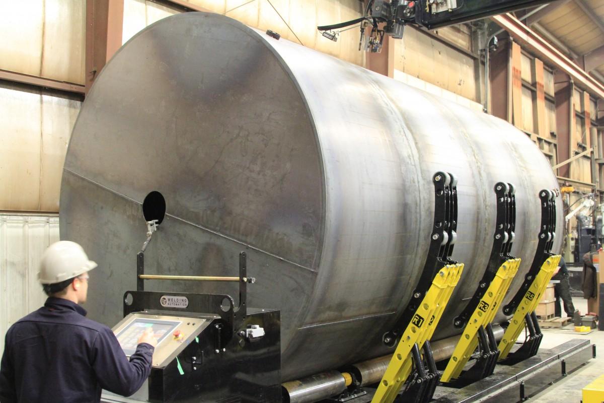 self aligning tank fit up rotators