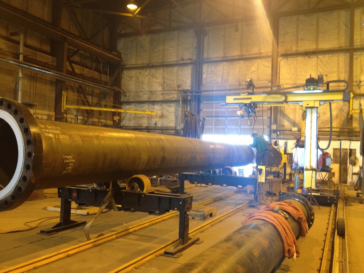 tank turning rolls and welding manipulators