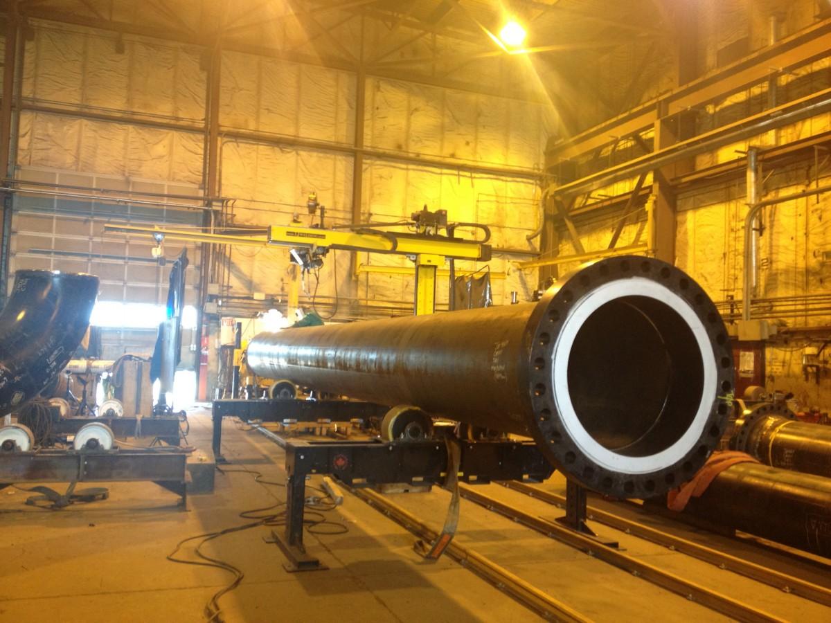 vessel rotators and column boom welding manipulator