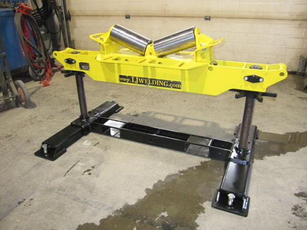 2-Ton Horizontal V-Roller Head Pipe Roller Stand for sale