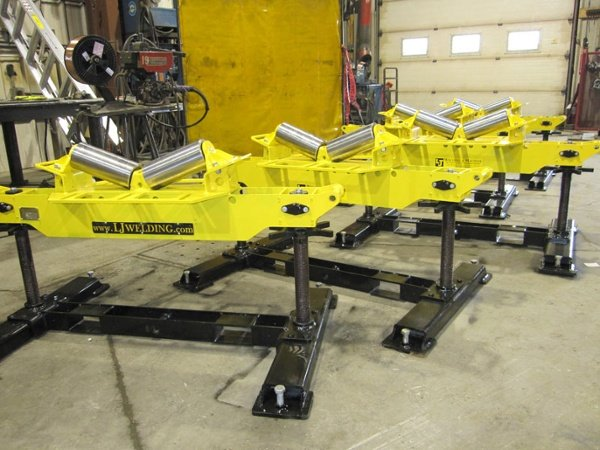 2-Ton Horizontal V-Roller Head Pipe Roller Stands for sale