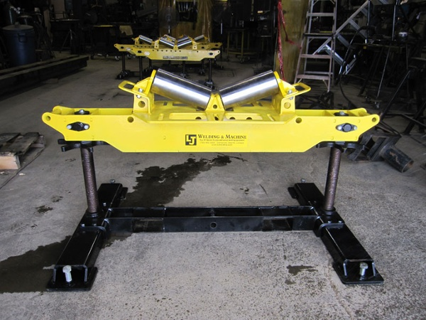 4-Ton Horizontal V-Roller Head pipe stand support for sale