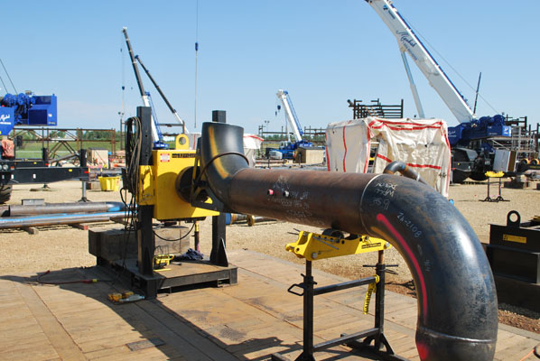 clearance pipe welding positioner outside with pipe stand